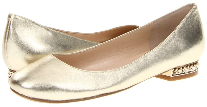 Nine West Quancy (Light Gold Metallic Leather) - Footwear