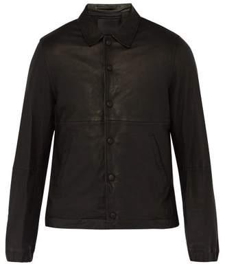 Saturdays NYC Maury Leather Jacket - Mens - Black