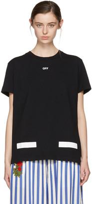 Off-White SSENSE Exclusive Black Diagonal Tulips T-Shirt $315 thestylecure.com