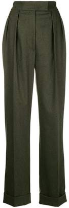 Agnona wide-leg side stripe trousers