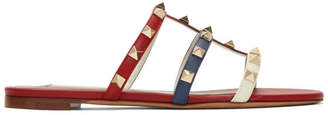 Valentino Multicolor Garavani Rockstud Slides