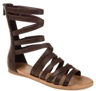 24c8f53322f Brown Back Zip Women s Sandals - ShopStyle