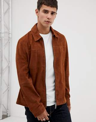 Ted Baker suede jacket in brown