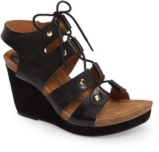 Sofft Carita Lace-Up Wedge Sandal