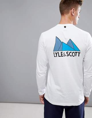 Lyle & Scott Fitness McGowan Long Sleeve T-Shirt With Back Print In White