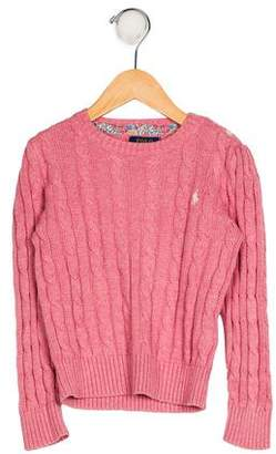 Ralph Lauren Girls' Cable Knit Sweater