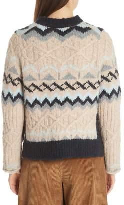 See by Chloe Fair Isle Wool Blend Sweater