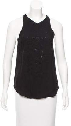 A.L.C. Embellished Sleeveless Top