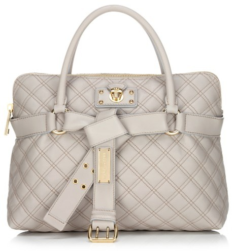 Marc Jacobs Collection Bruna Double Quilted Satchel, Beige