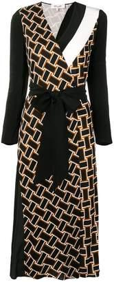 Diane von Furstenberg printed belted dress