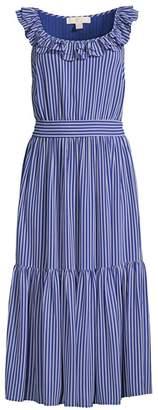 MICHAEL Michael Kors Mini Stripe Railroad Midi Dress