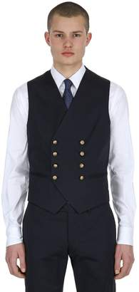 Tagliatore Double Breasted Stretch Gabardine Vest