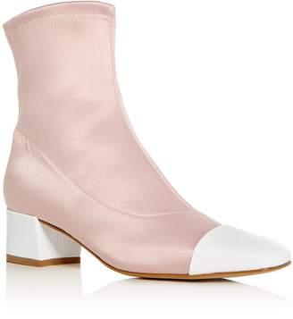 Carel Women's Satin & Patent Leather Cap Toe Booties