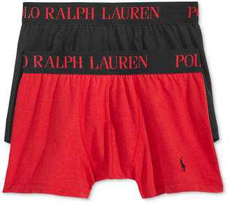 Polo Ralph Lauren Men's 2 Pack Ultra-Soft Cotton Comfort Blend Boxer Briefs