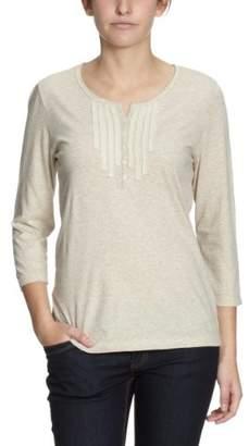 Lerros Women's Button down Long - regular Sweatshirt - Beige - - (Brand size: 38)
