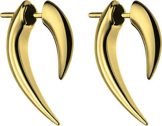 Shaun Leane Sterling silver and gold vermeil talon earrings, silver