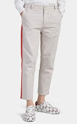 Dickies CONSTRUCT Men's Striped Cotton Crop Trousers - Beige, Khaki