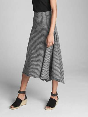 Gap Handkerchief Ribbed Midi Skirt