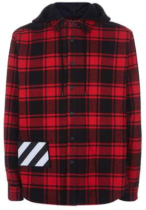 Off-White Padded Hooded Check Shirt