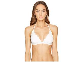 Kate Spade Core Solids #79 Scalloped Triangle Bikini Top w/ Removable Soft Cups