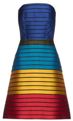 Mary Katrantzou - Freesia Strapless Striped Colour Block Dress - Womens - Multi