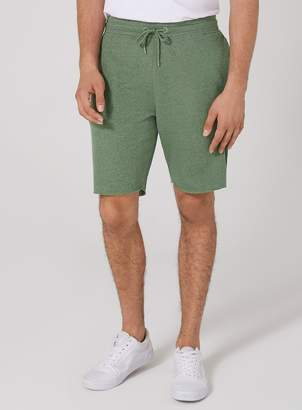 Topman Khaki Raw Edge Jersey Shorts
