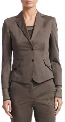 Akris Punto Cotton Button-Front Jacket