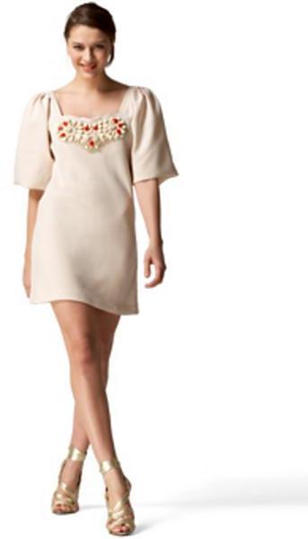 Karta Jeweled Bow Dress