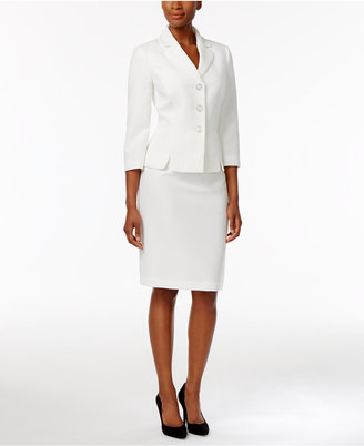 Le Suit Textured Skirt Suit $200 thestylecure.com