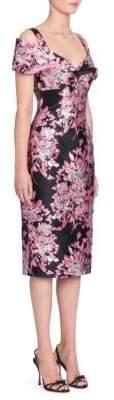 Dolce & Gabbana Floral Jacquard Off-Shoulder Dress
