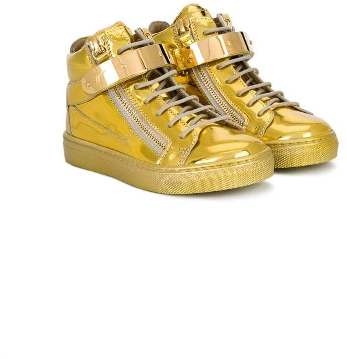 Giuseppe Junior strapped hi-top sneakers