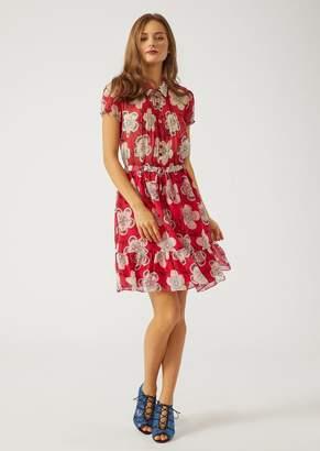 Emporio Armani Floral Silk Chiffon Dress