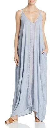 Elan International Sleeveless Embroidered Maxi Dress