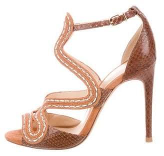 Alexandre Birman Alice Snakeskin Sandals