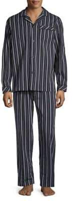Black Brown 1826 Two-Piece Striped Cotton Pyjama Set
