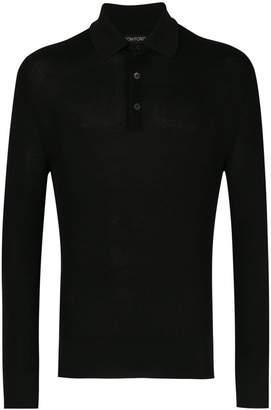 Tom Ford waffle knit polo shirt