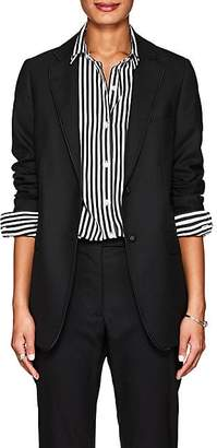 Officine Generale Women's W375 Wool Two-Button Blazer - Black