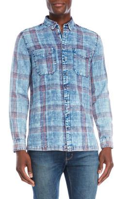 William Rast Plaid Chambray Shirt