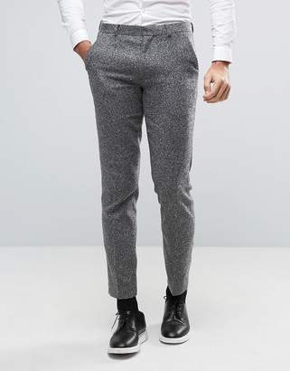 Asos DESIGN Slim Suit PANTS in Gray Texture