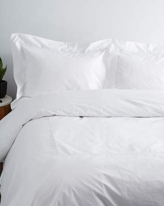 Maurizio Italy Single Line White Embroidered Duvet Set