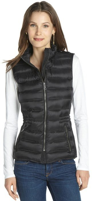 Burberry black nylon quilted vest
