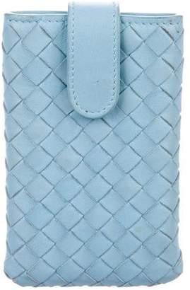 Bottega Veneta Intrecciato Leather Phone Holder