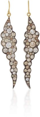Sylva & Cie Cloud 18K Gold and Champagne Diamond Earrings