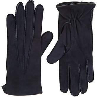 Barneys New York Men's Fur-Lined Suede Gloves