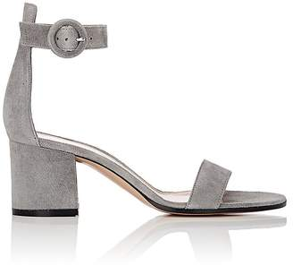 Gianvito Rossi Women's Versalia Suede Ankle-Strap Sandals