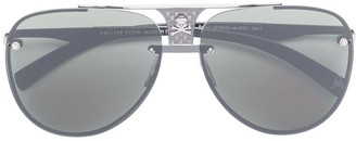 Philipp Plein skull detail aviator sunglasses