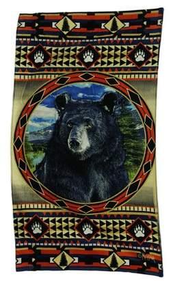 Zeckos Bear Mountain Country Rustic Decorative Lodge Style Beach Towel 63 X 35 Inch