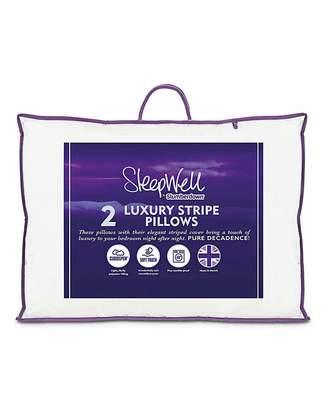 Slumberdown Luxury Stripe Pillow Pair