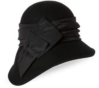 Cloche Kathy Jeanne Asymmetrical Wool Hat