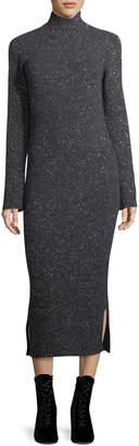 Gentry Portofino Cashmere Tweed Turtleneck Sweaterdress